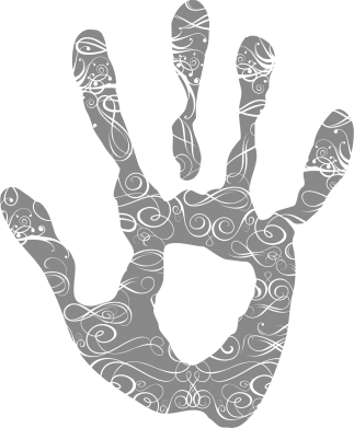 Принт Мужская майка Отпечаток руки - FatLine