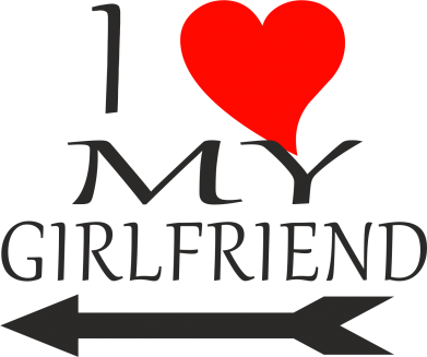 Принт Фартук I love my girlfriend - FatLine