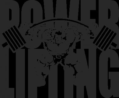 Принт Женская толстовка Powerlifting logo - FatLine