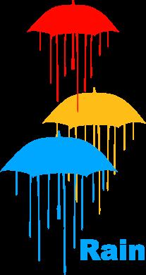 Принт Мужская футболка  с V-образным вырезом Rain - FatLine