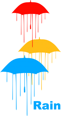 Принт Подушка Rain - FatLine