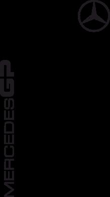 Принт Футболка Поло Mercedes GP Logo - FatLine