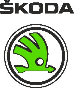 Принт Женская футболка с V-образным вырезом Skoda Bird - FatLine