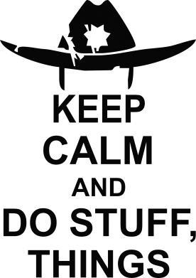 Принт Фартук KEEP CALM AND DO STUFF - FatLine