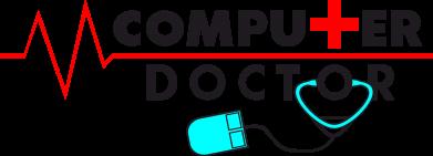 Принт Мужская футболка  с V-образным вырезом Computer Doctor - FatLine