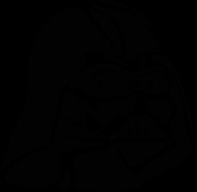 Принт Женская футболка с V-образным вырезом Darth Vader - FatLine