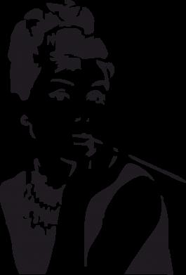 Принт Женская толстовка Девушка красит губы - FatLine