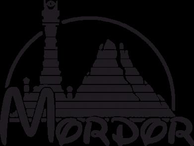 Принт Женская футболка с V-образным вырезом Mordor (Властелин Колец) - FatLine