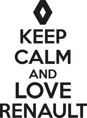 ����� ������ KEEP CALM AND LOVE RENAULT - FatLine