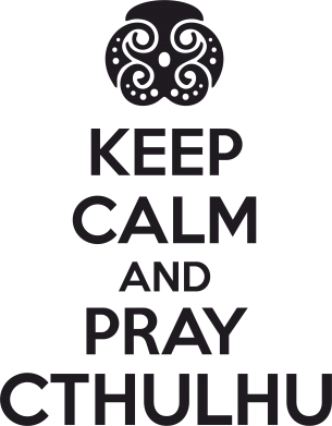 Принт Футболка KEEP CALM AND PRAY CTHULHU - FatLine