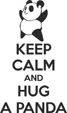 Принт Кружка 320ml KEEP CALM and HUG A PANDA - FatLine