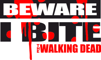 Принт Подушка Beware I BITE (Walking dead) - FatLine