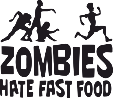 Принт Кружка 320ml Zombies hate fast food - FatLine