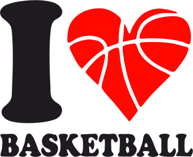 Принт Толстовка I love basketball - FatLine