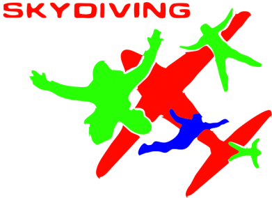 ����� �������� ���� Skidiving logo - FatLine