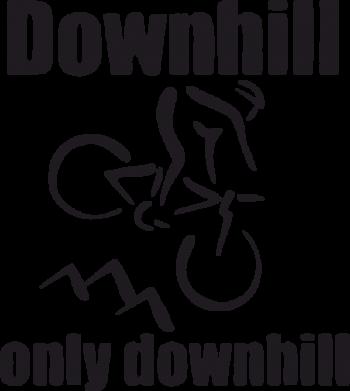 Принт Женская футболка Downhill,only downhill - FatLine