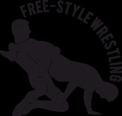 Принт Детская футболка Free-style wrestling - FatLine