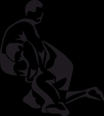 Принт Мужская футболка  с V-образным вырезом Захват в борьбе - FatLine