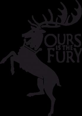 Принт Подушка Ours is the fury - FatLine