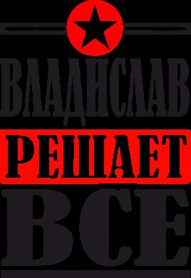 Принт Женская футболка Владислав решает все - FatLine