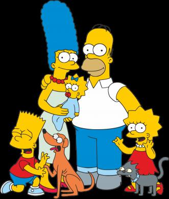 Принт Мужская толстовка на молнии Simpsons Family - FatLine
