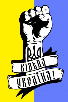 Принт Тельняшка с длинным рукавом Вільна Україна! - FatLine