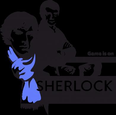 Принт Камуфляжная футболка Sherlock (Шерлок Холмс) - FatLine