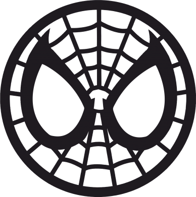 Принт Наклейка Спайдермен лого - FatLine