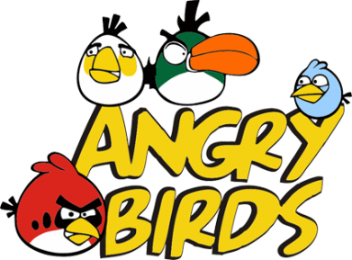 ����� ������� �������� � V-�������� ������� Angry birds Team - FatLine