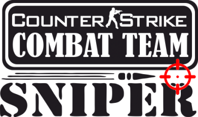 Принт Коврик для мыши Counter Strike Combat Team Sniper - FatLine