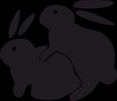 Принт Мужская майка Кролики - FatLine