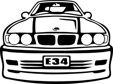 Принт Коврик для мыши BMW E34 - FatLine
