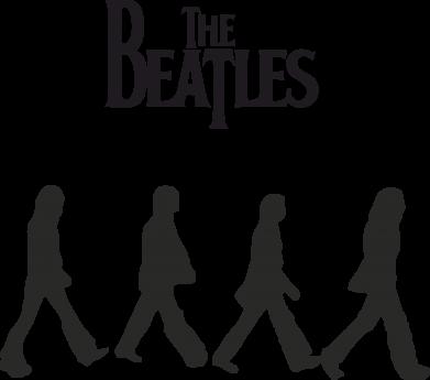 Принт Мужская футболка  с V-образным вырезом Beatles Group - FatLine