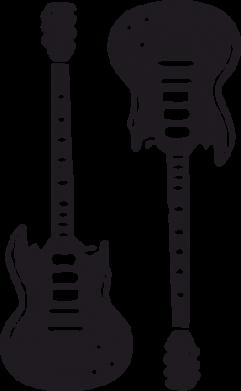 Принт Женская футболка Две гитары - FatLine