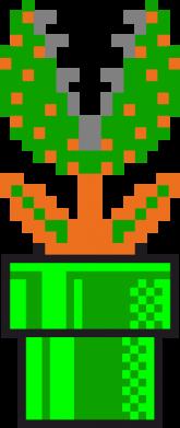 Принт Футболка с длинным рукавом Цветок-людоед Супер Марио - FatLine