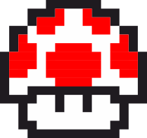 Принт Тельняшка с длинным рукавом Гриб Марио в пикселях - FatLine