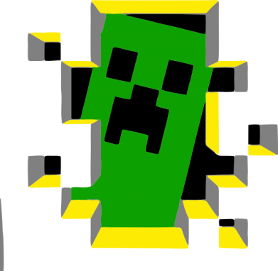 Принт Толстовка Minecraft 3D - FatLine