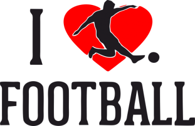 Принт Штаны I love football - FatLine