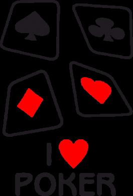 Принт Толстовка I love poker - FatLine
