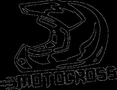 Принт Женская футболка поло Шлем Мотокросс - FatLine