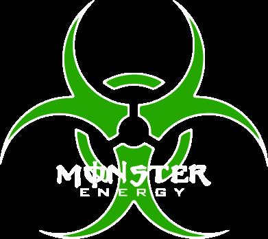 Принт Женская футболка поло Monster Energy Biohazard - FatLine