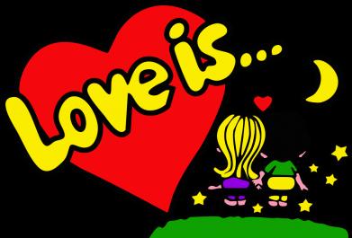 Принт Майка-тельняшка Love is... - FatLine