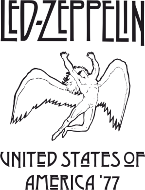 Принт Кружка 320ml Led Zeppelin United States of America 77 - FatLine