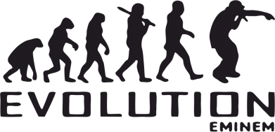 Принт Женская футболка с V-образным вырезом Eminem Evolution - FatLine