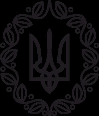Принт Наклейка Герб Украины - FatLine