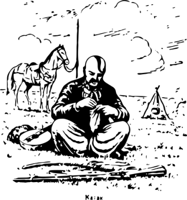 Принт Кружка 320ml Козак та кінь - FatLine