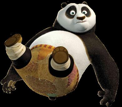 Принт Женская майка Падающая Панда - FatLine