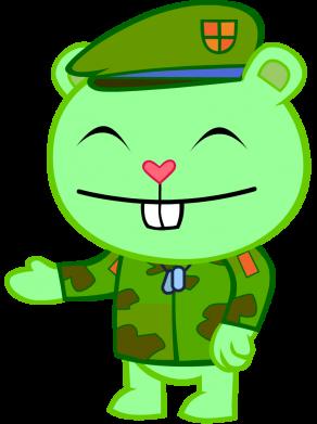Принт Детская кепка happy tree friends flippy - FatLine