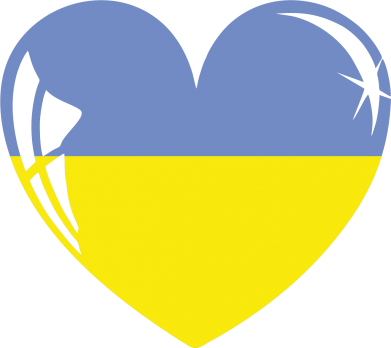 Принт Женская майка Сердце України - FatLine