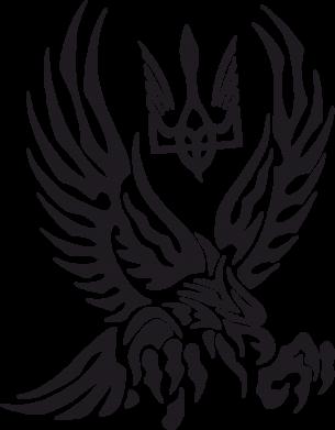 Принт Коврик для мыши Птах та герб - FatLine
